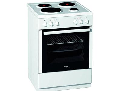 Korting KE67120AW Κουζίνα Ηλεκτρική Εμαγιέ